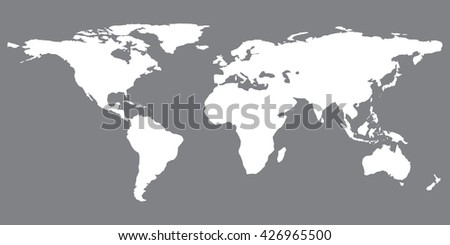 Gray similar world map blank vector stock vector 426965500 gray similar world map blank vector flat template object eps infographic art card stock gumiabroncs Images