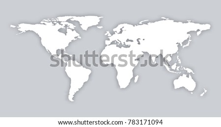 Gray similar world map blank vector stock vector 426965500 gray similar world map blank vector flat template object eps infographic art card stock isolated gumiabroncs