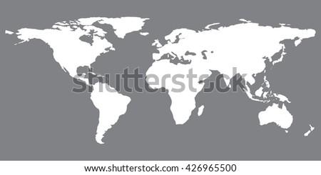 Gray similar world map. World map blank. World map vector. World map flat. World map template. World map object. World map eps. World map infographic. World map art. World map card - stock vector. - stock vector