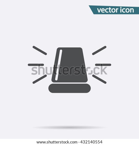 Gray Siren icon isolated on background. Modern flat pictogram, business,  marketing, internet concept. Trendy Simple vector symbol for web site design or button to mobile app. illustration  - stock vector