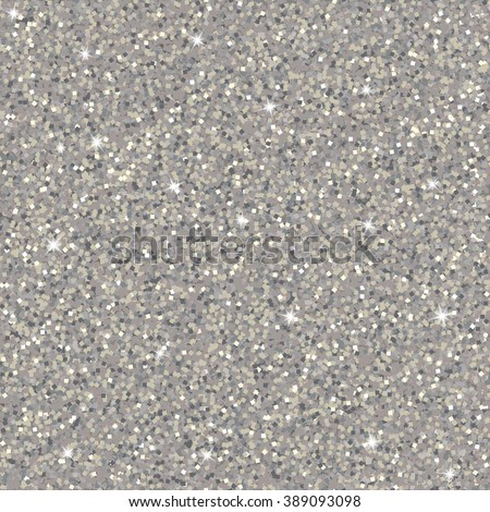 Gray sparkles texture with shine, diamond glitter background. Vector illustration, seamless pattern, glamour style for your design, invitation, party, holidays, xmas, wedding, Holi - stock vector