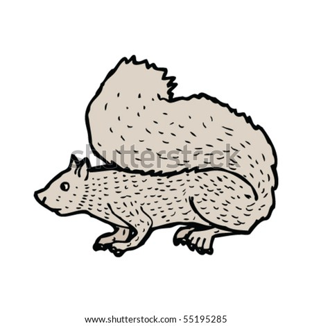 gray squirrel illustration - stock vector