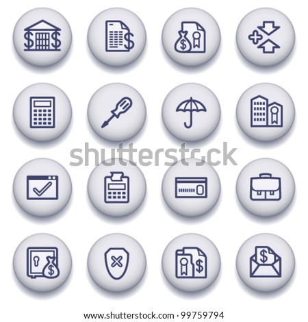Gray symbols for web 6 - stock vector