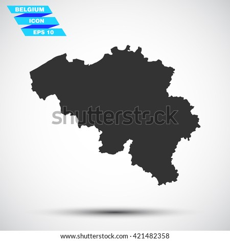 gray vector illustration icon map state belgium on gradient background - stock vector
