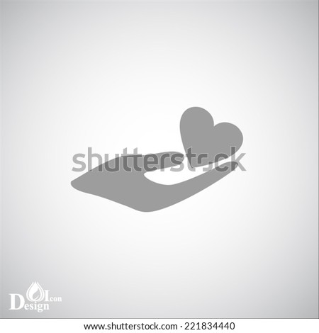Gray web icon - stock vector