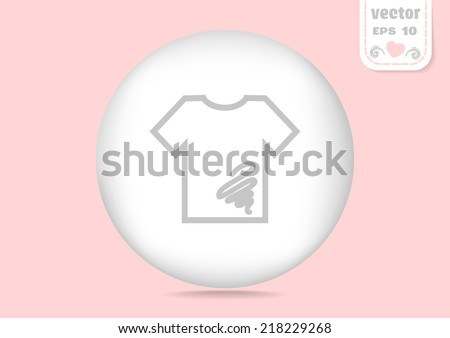 gray web icon on a gentle pink background - stock vector