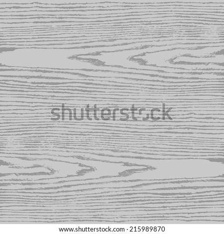 Gray wood texture background in square format. Natural pattern swatch template in simple flat style. Empty realistic plank with annual years circles. Design elements save in vector illustration 8 eps - stock vector
