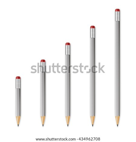 Gray wooden sharp pencils