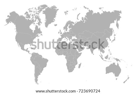 World map country borders vector illustration vectores en stock gray world map gumiabroncs Image collections