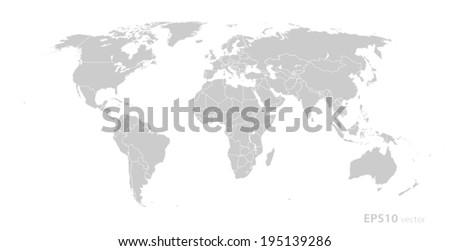 Gray world map vector format stock vector 195139286 shutterstock gray world map vector format gumiabroncs Gallery