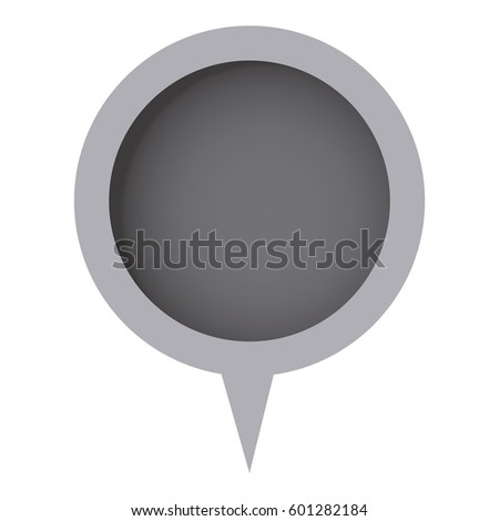 grayscale circle chat bubble icon, vector illustration design