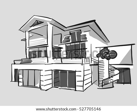 3D Modern Simple Dream House Drawing Singapore