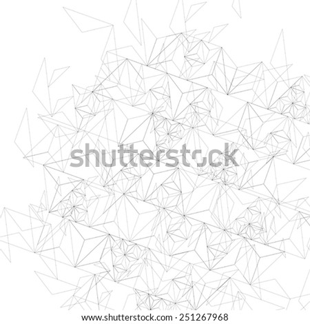 Grayscale technology stylish construction, abstract dimensional background with geometric figures. 3d illusive eps10 vector illustration. Op art surface, internet technology backdrop. - stock vector