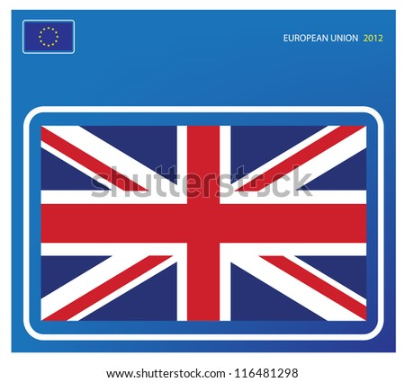 Great Britain flag - stock vector
