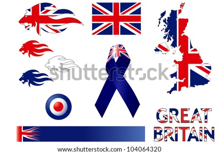 Great Britain Icons - stock vector