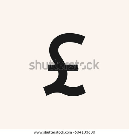 Great Britain Pound Symbol Pound Sterling Stock Vector 604103630