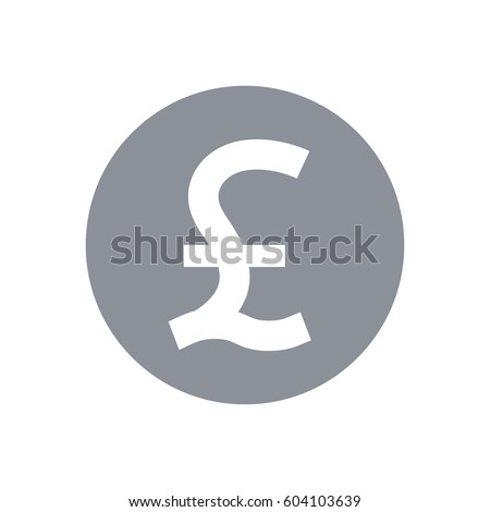 Great Britain Pound Symbol Pound Sterling Stock Vector 2018