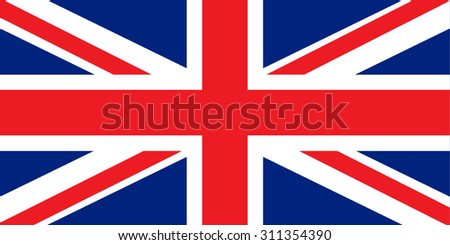 Great Britain, United Kingdom flag vector - stock vector