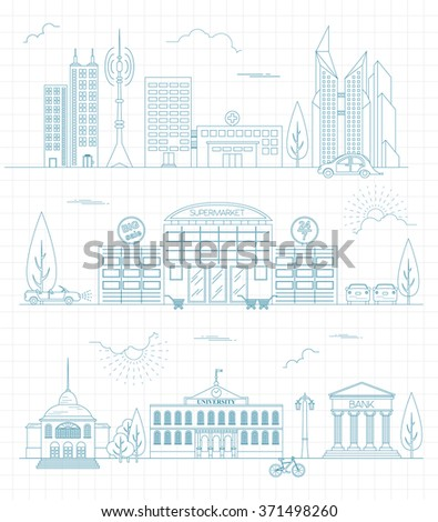 Wireframe blueprint drawing 3d building vector stock for 3d blueprint creator