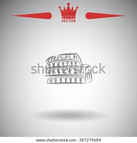 Great Colosseum, Rome, Italy. Sketch. Vector illustration. - stock vector