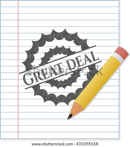 Great Deal draw (pencil strokes)