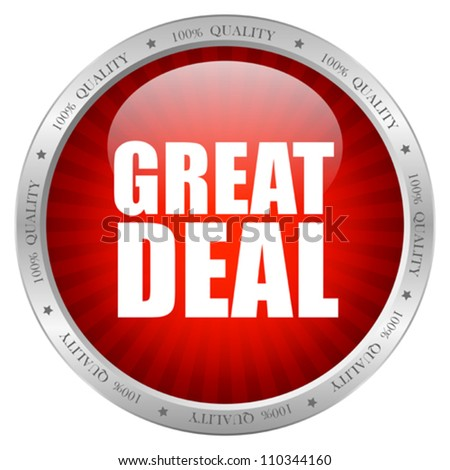 Great deal icon, eps10 vector illustration - stock vector