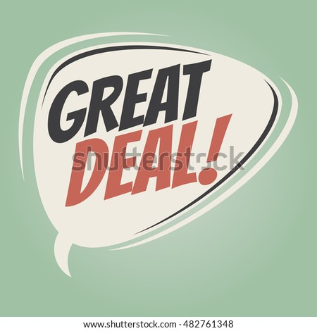 great deal retro speech balloon