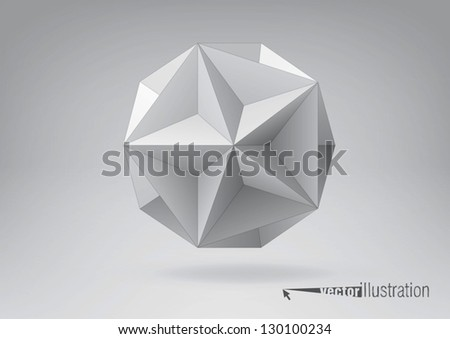 Great dodecahedron for your graphic design. You can change colors - stock vector