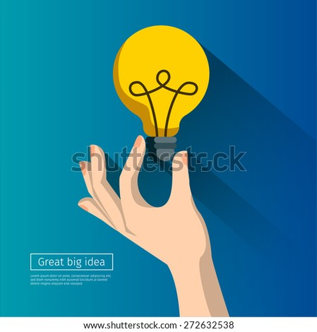 Great Idea Concept in flat style - stock vector