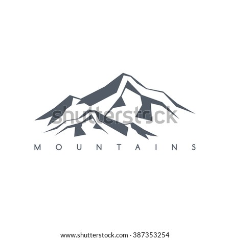 great mountain range - stock vector