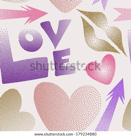 great multicolored print poster cards textile stock vector 579234880