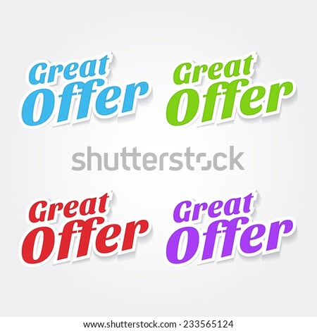 Great Offer Colorful Vector Icon Design