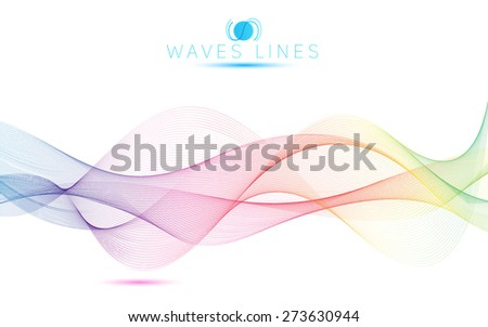 great rainbow waves colorful gradient light blend line bright abstract vector