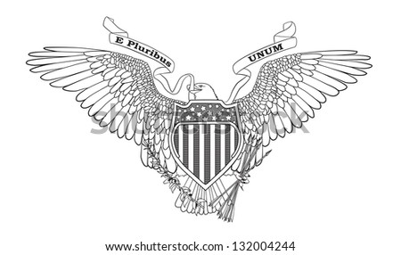 Great Seal of the USA - vector illustration. - stock vector