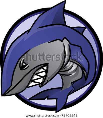 Great White Shark - stock vector