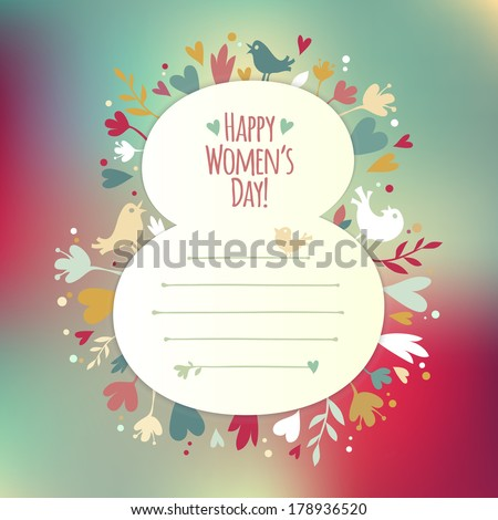 Greating card for International Women's Day.