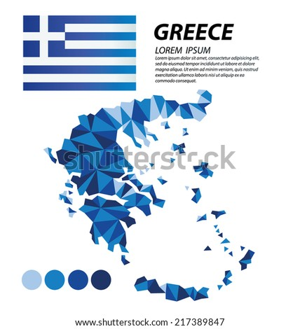 Greece geometric concept design