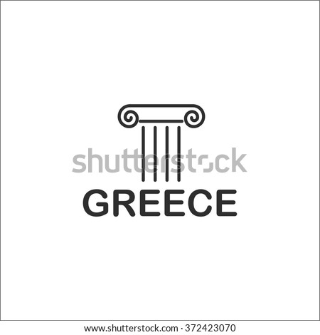 Greece icon - stock vector
