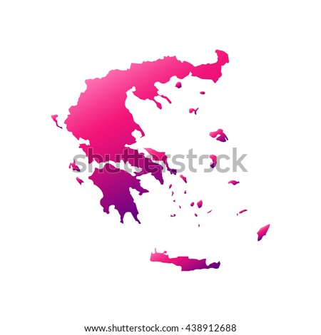 Greece map with gradient - stock vector