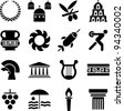 Greece pictograms - stock vector