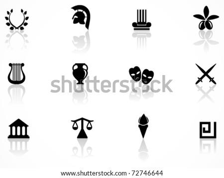 Greece symbols - stock vector