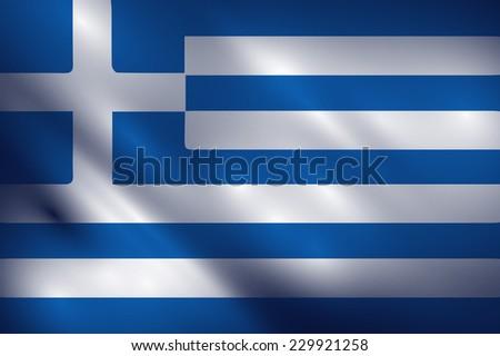 Greece waving flag vector - stock vector