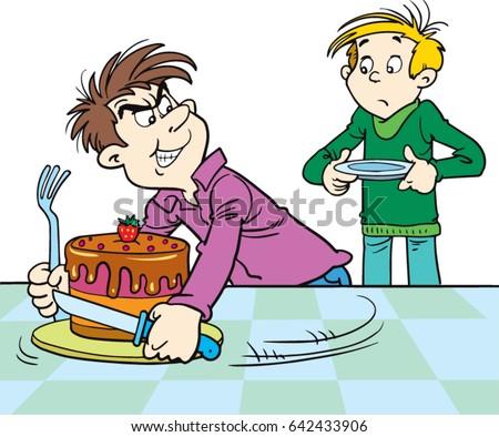 Child Crying Over Cake