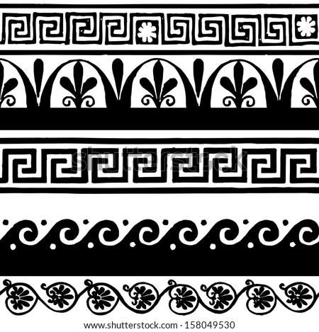 Greek border ornaments meanders stock vector 158049530 for Le greche decorazioni