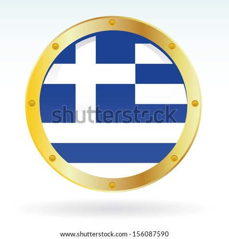 Greek flag - stock vector