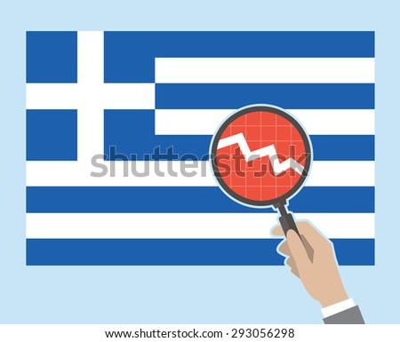 Greek flag concept - negative version. EPS8. - stock vector