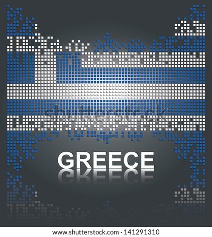 Greek flag, vector - stock vector