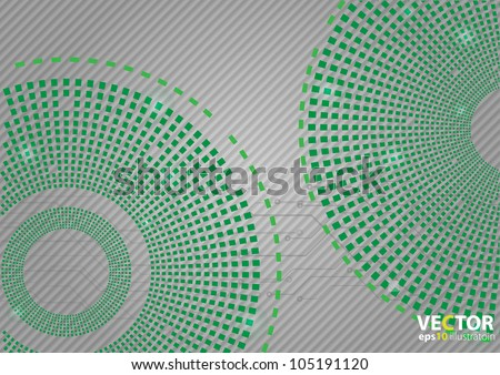 Green abstract backgraound - stock vector
