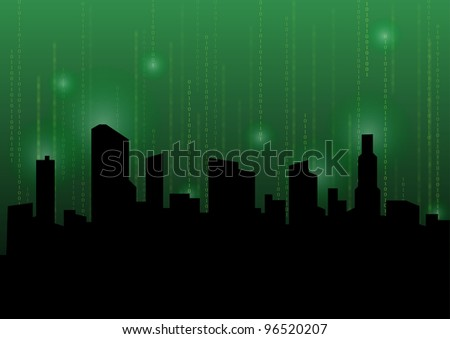 Green abstract backgraounds - stock vector