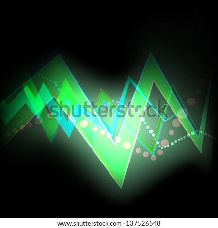 Green abstract background technology vector neon concept
